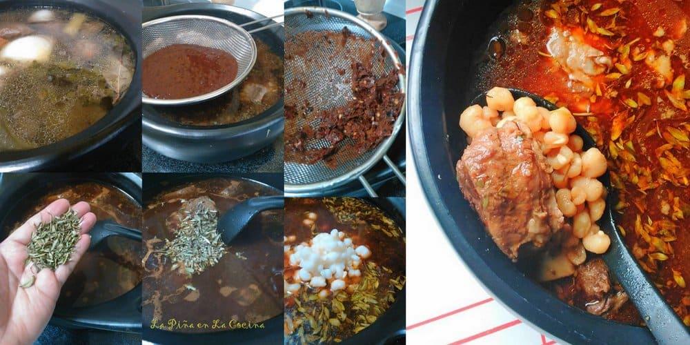 pozole de res-red chile beef pozole
