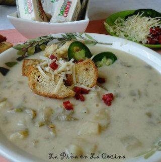 Jalapeño Cheddar Mashed Potato Soup