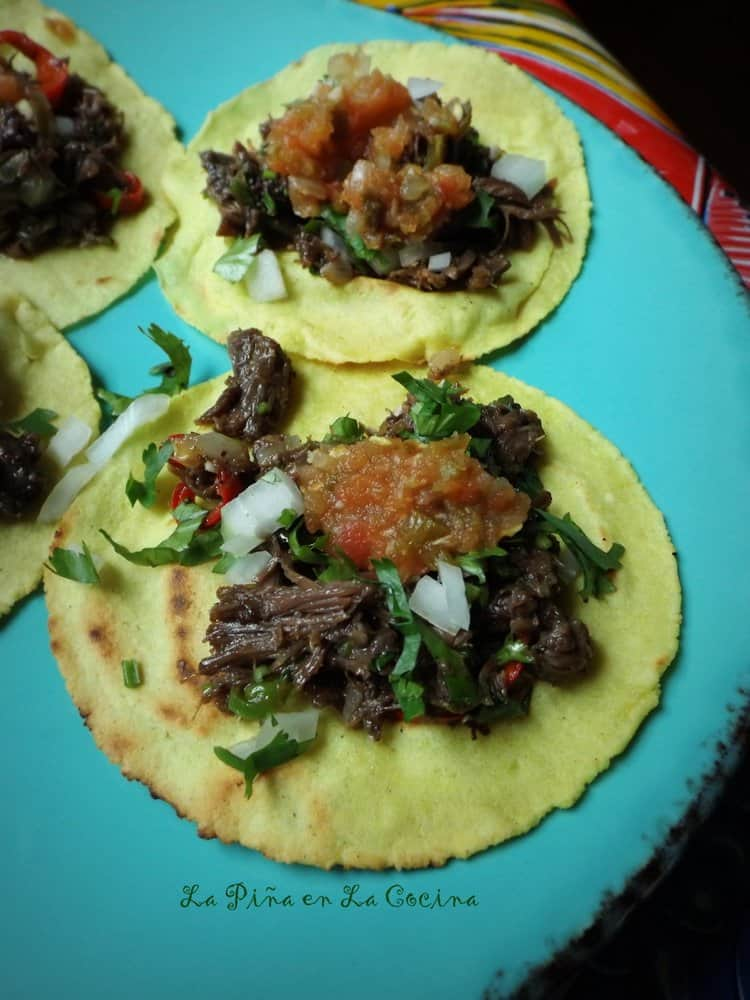 Barbacoa Tacos- Slow Cooker Beef Cheek