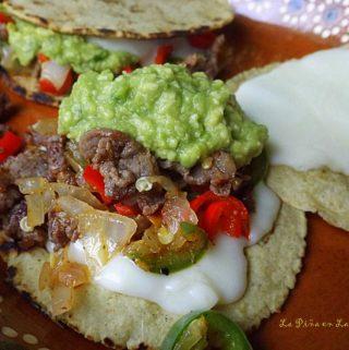 Mulitas de Carne Asada~Quesadilla? Stacked Taco?