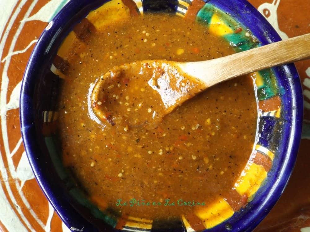 Toasted Chile De Arbol Tomatillo Salsa La Piña En La Cocina