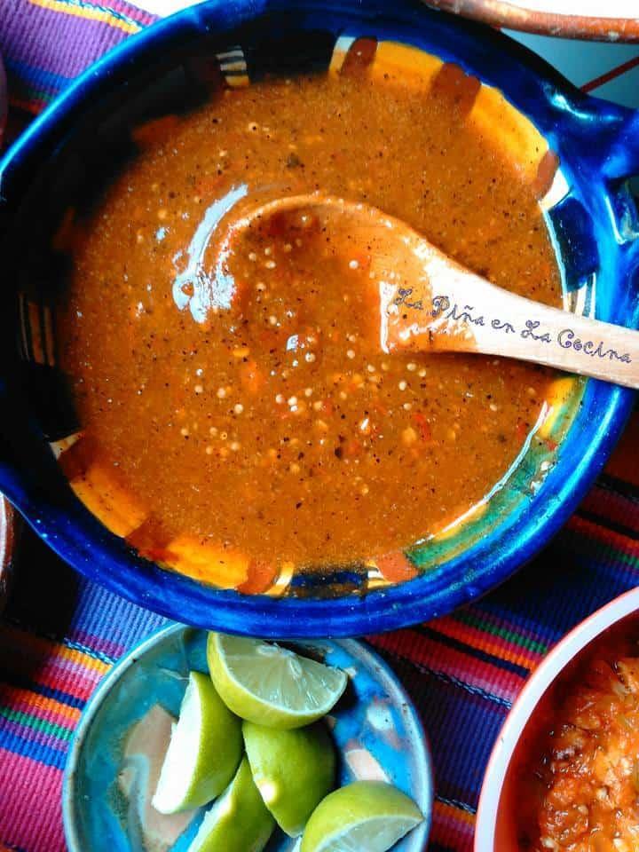 Salsa de Chile de Arbol Con Tomatillo