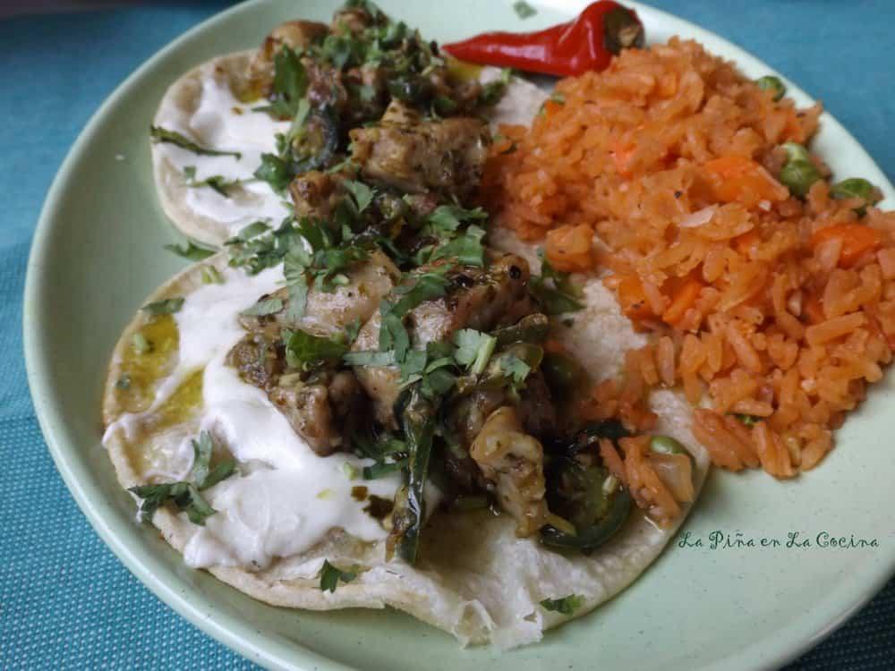 Adobo Verde Chicken Tacos