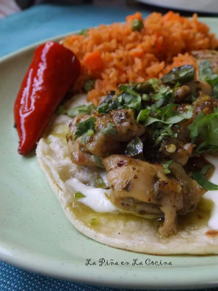 Adobo Verde Chicken Tacos