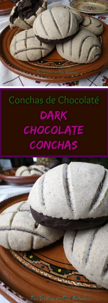 Dark Chocolate Conchas Pinterest Image