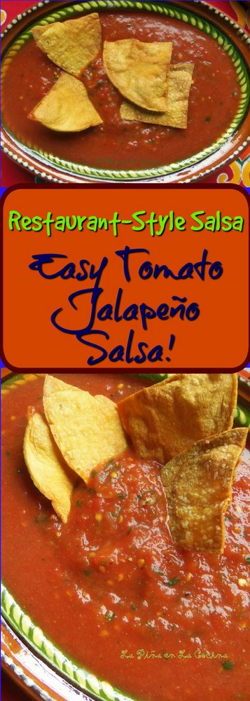 Restaurant Style Salsa- Easy Tomato Jalapeño Salsa