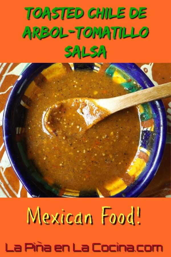 Toasted chile de arbol tomatillo salsa la pi a en la cocina - Arbol de pina ...