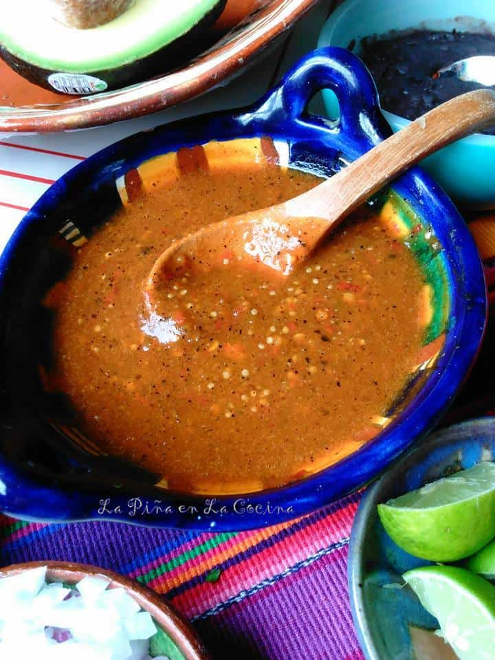 Toasted Chile de Arbol with Roasted Tomatillo Garlic