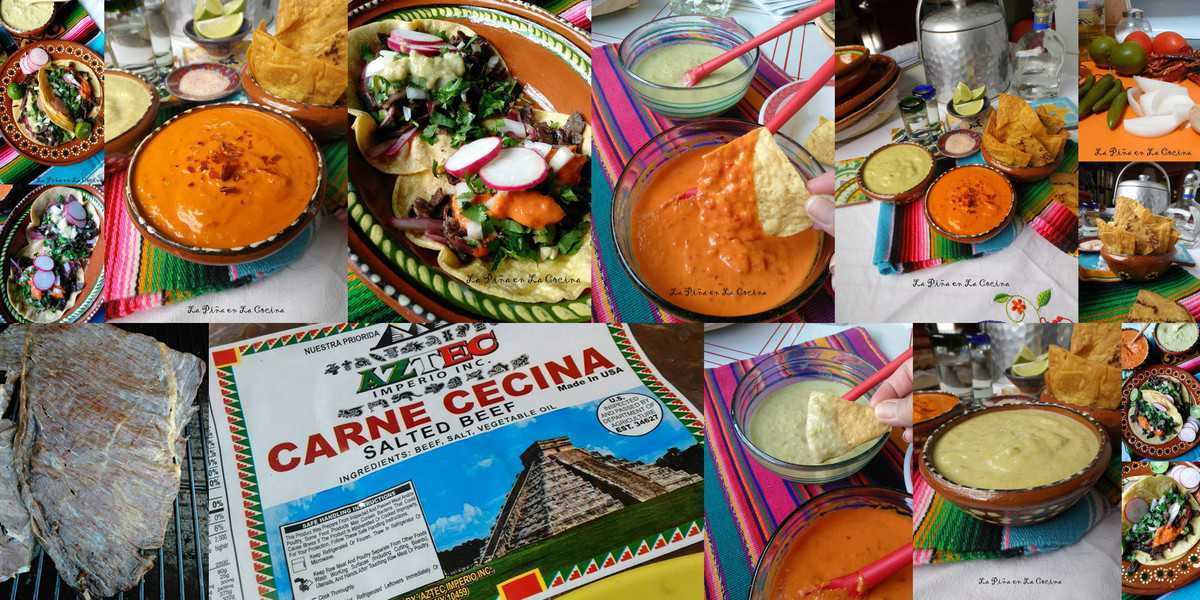 spicy taqueria salsa-beef cecina