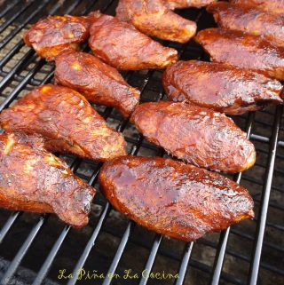 Smoky Char Grilled Chicken Wings!