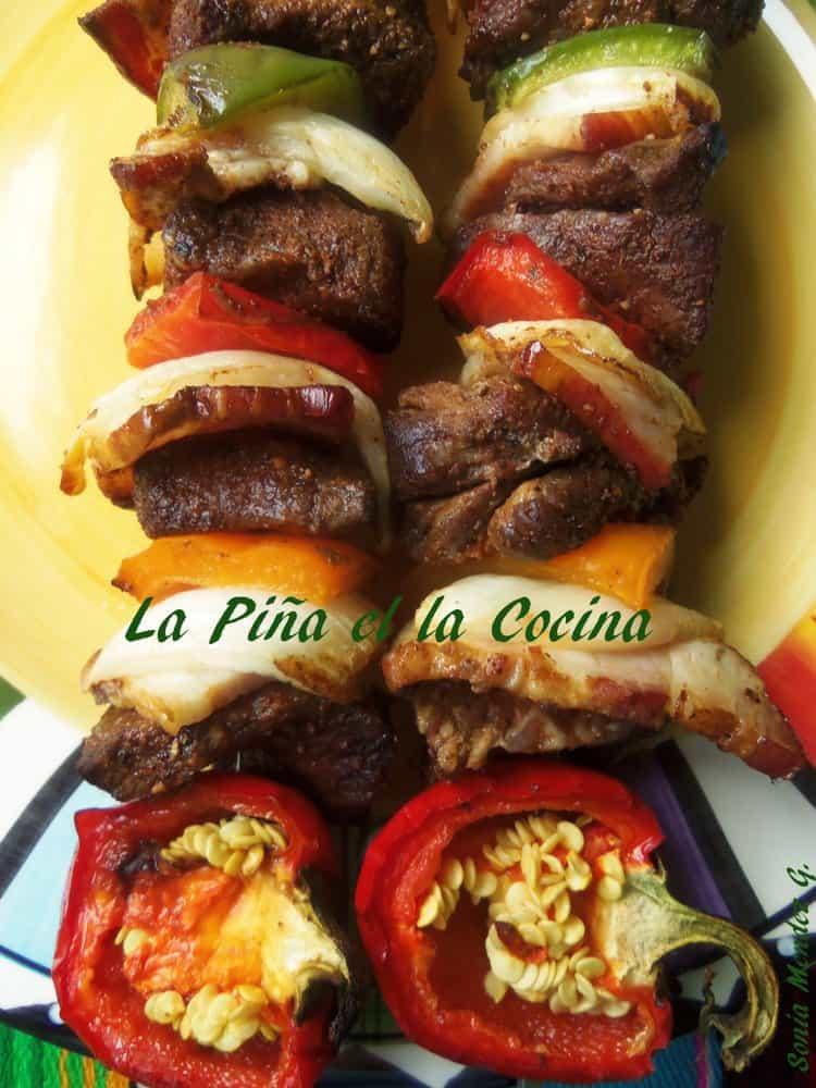 Alambres Norteños-Grilled Beef Kabobs