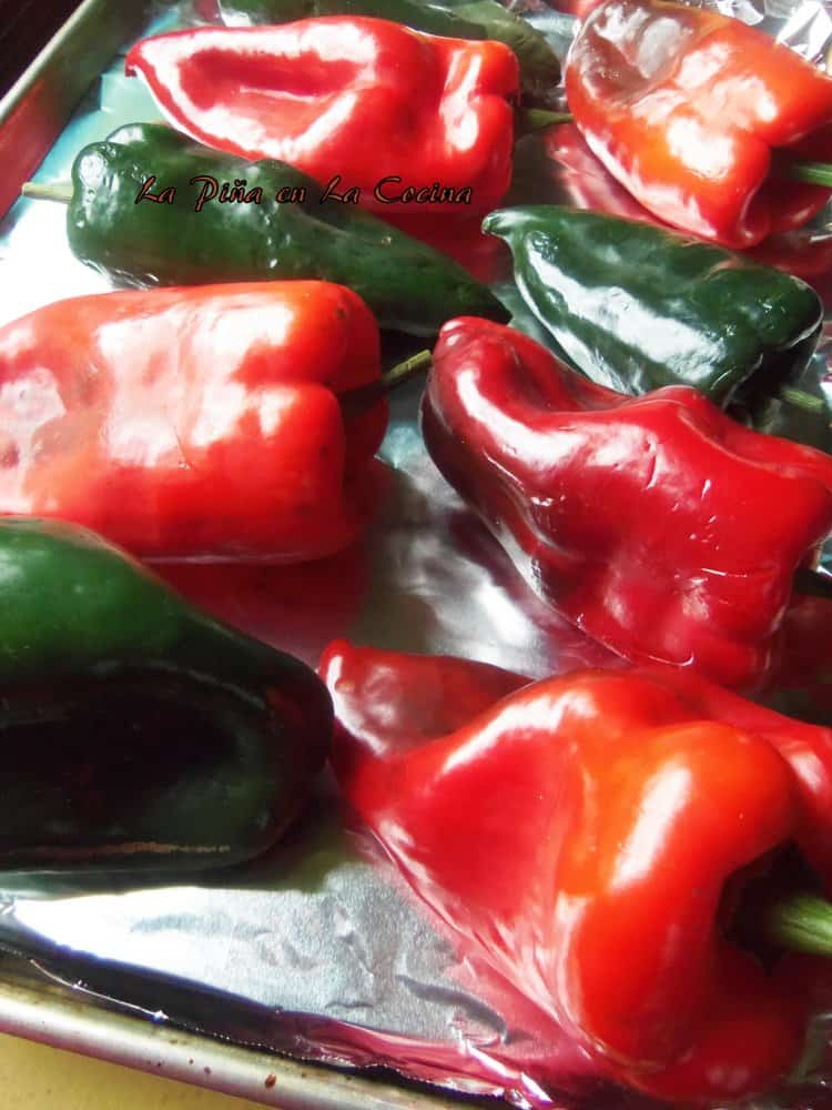 Red and Green Poblanos