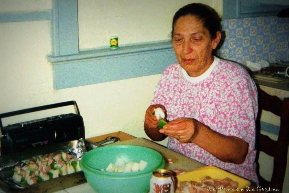 Mom Preparing Alambres