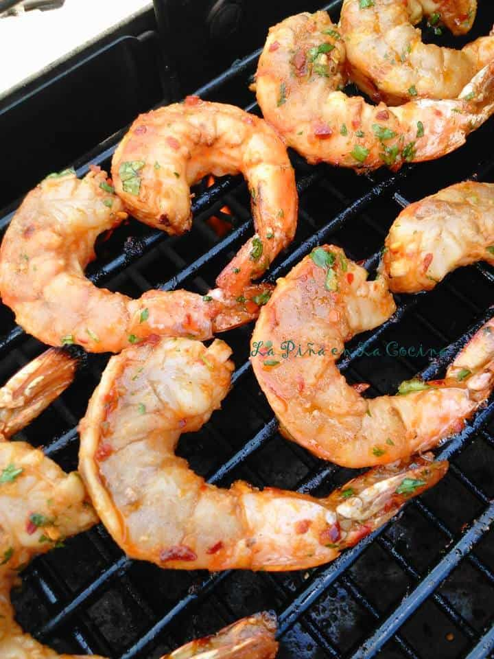 Cilantro Lime Shrimp With Serrano! Grilled!