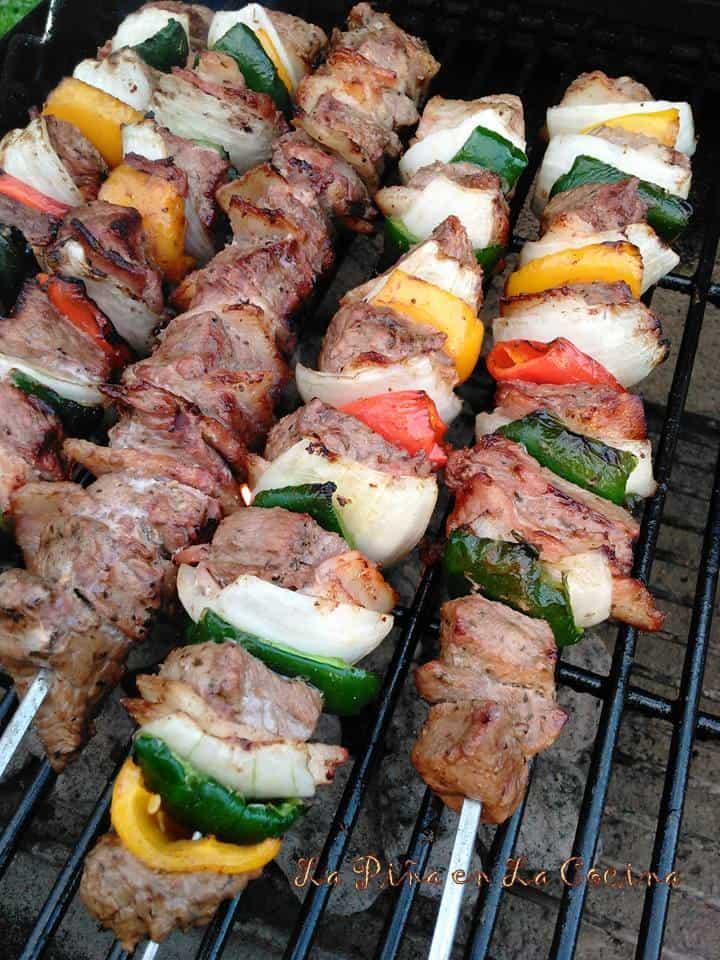 Alambres Norteños- Grilled Beef Kabobs