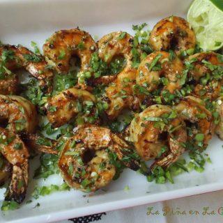 Cilantro Lime Shrimp With Serrano! Grilled!