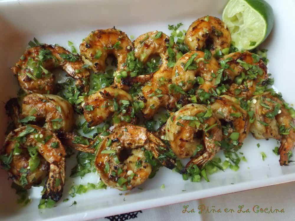 Cilantro Lime ShrimpWith Serrano! Grilled!