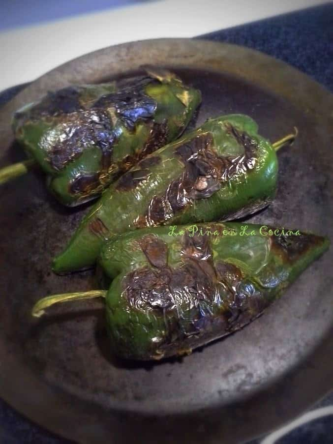 Stove Top Roasted Poblanos
