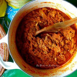Tinga de Pollo(Chicken in a ChipotleTomato Sauce)