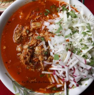 Pozolé de Pollo-Red Chile Chicken Posole