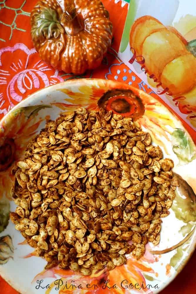 Chile Lime Pumpkin Seeds(Semillas de Calabaza) #pepitas #semillasdecalabaza
