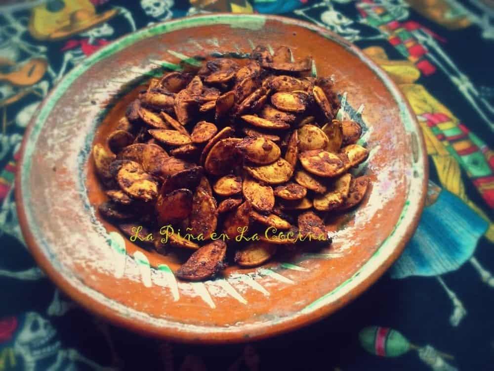 Spicy Pumpkin Seeds #pepitas #semillasdecalabaza