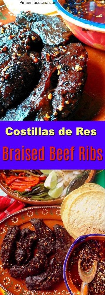 Costillas de Res(Braised Beef Ribs) #costillasderes #ribs