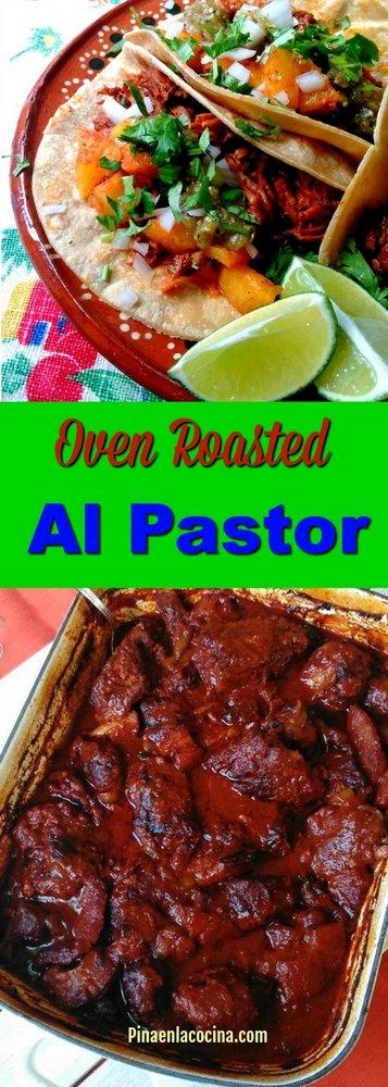 Oven Roasted Al Pastor (Al Pastor Al Horno) #alpastor #roastedpork
