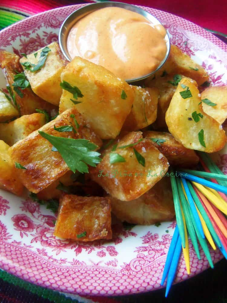 Spanish-Style Patatas Bravas #patatasbravas #potatorecipes