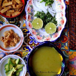 Chileatole Verde(Jalapeño Cilantro Soup)