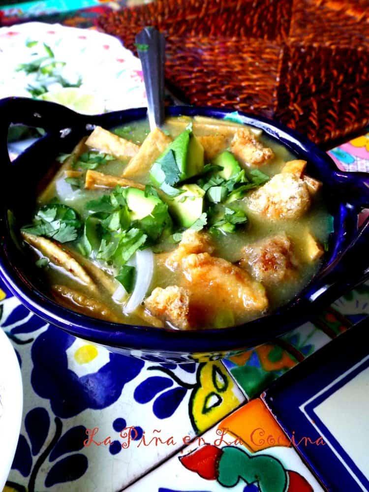 Chileatole Verde (Jalapeño Cilantro Soup) #chiletatole #soup