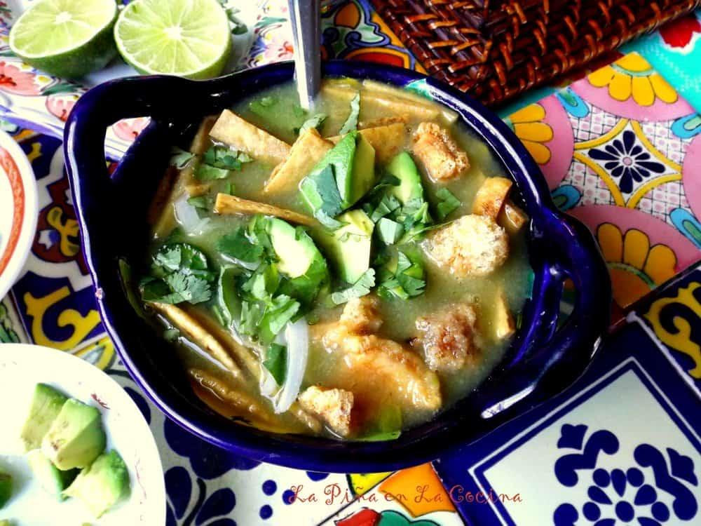 Chileatole Verde (Jalapeño Cilantro Soup) #chileatole #soup