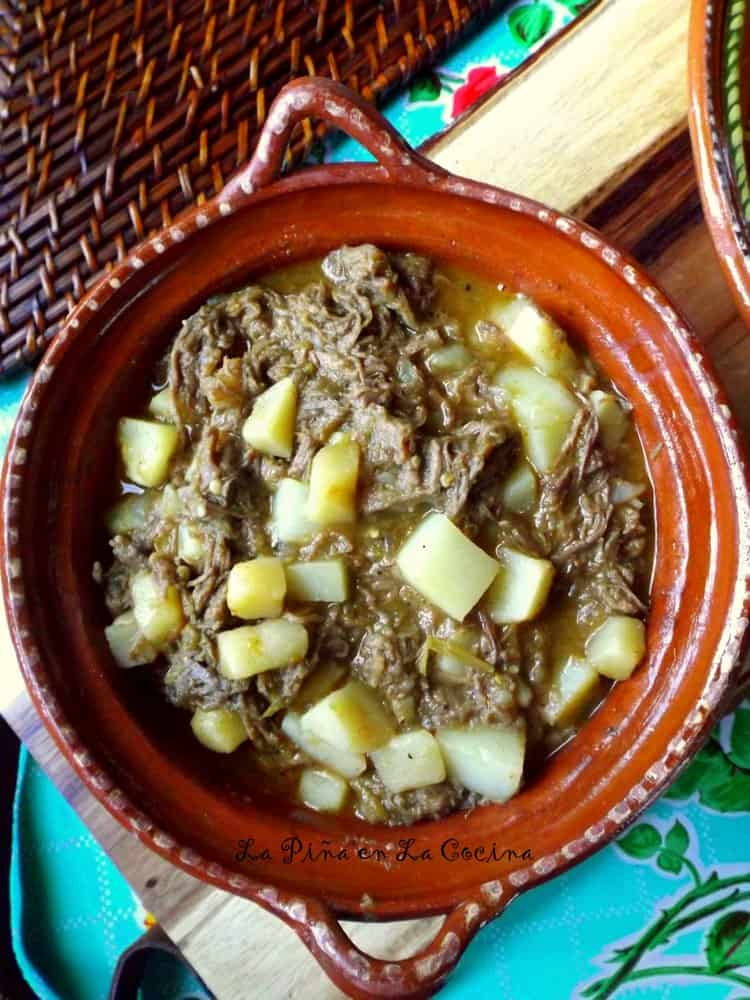 Potato and Beef with Green Chile #potatoandbeef #greenchile