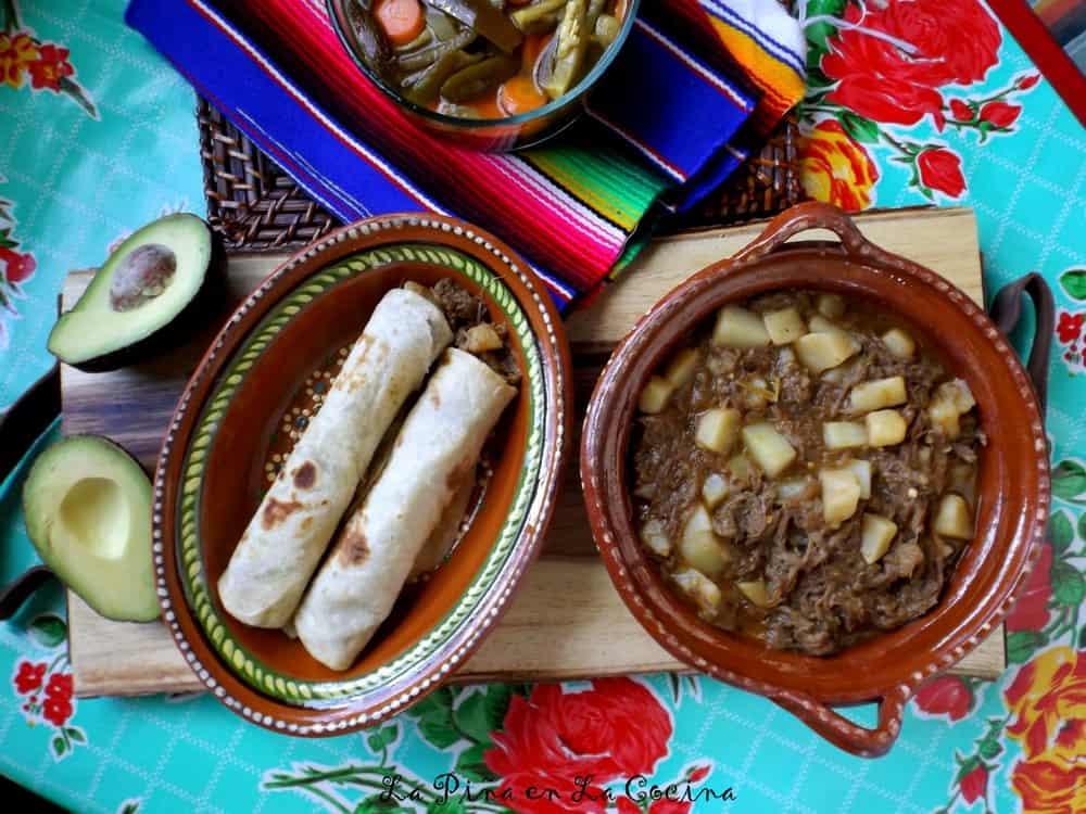 Potato and Beef-Hot Green #potatoandbeef #mexicanfood #burritos #ramonasmexicanfood