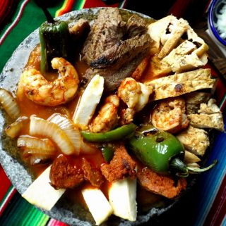 Molcajete For Two! Molcajete Mixto!