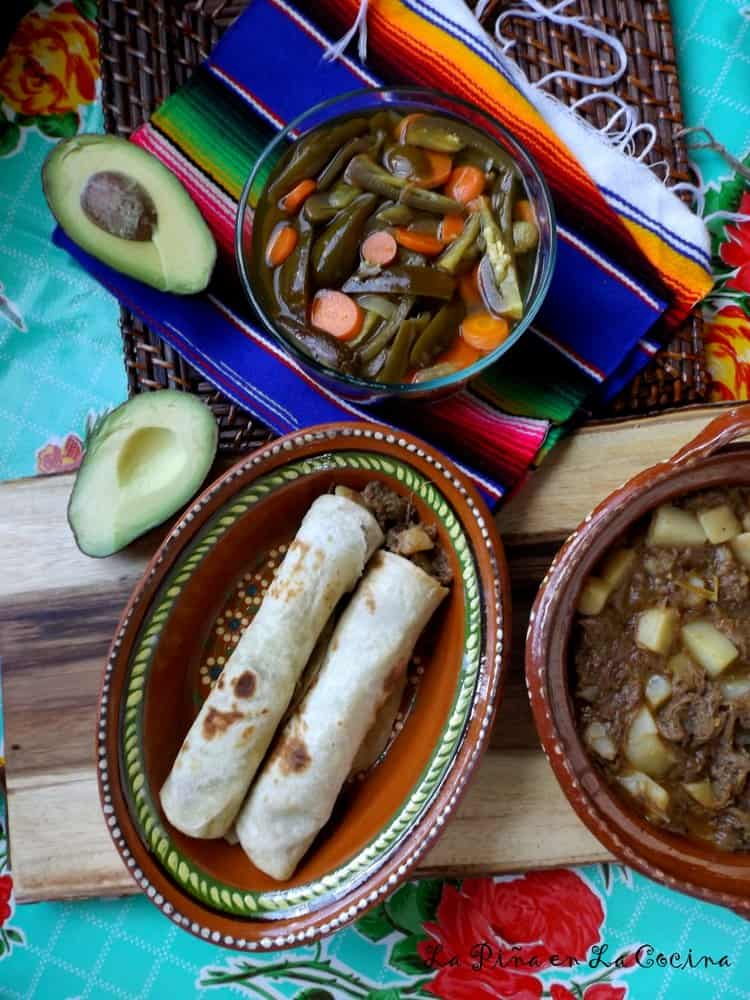 Potato and Beef-Hot Green! #potatoand beef #mexicanfood