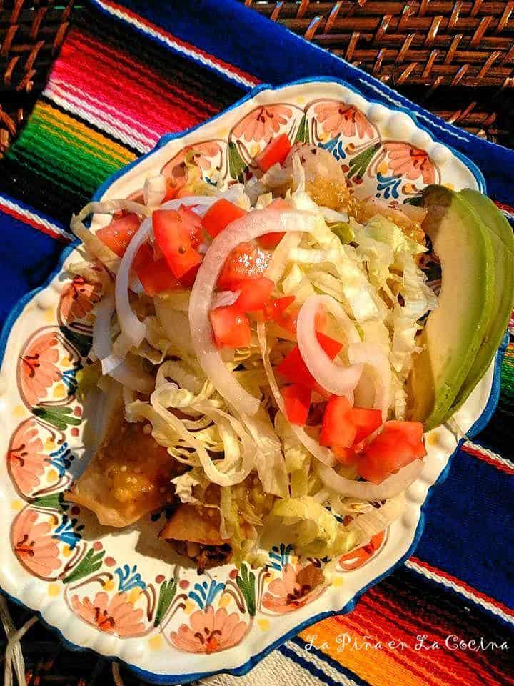 Potato and Beef Flautas #chileverdeconpapa #mexicanfood