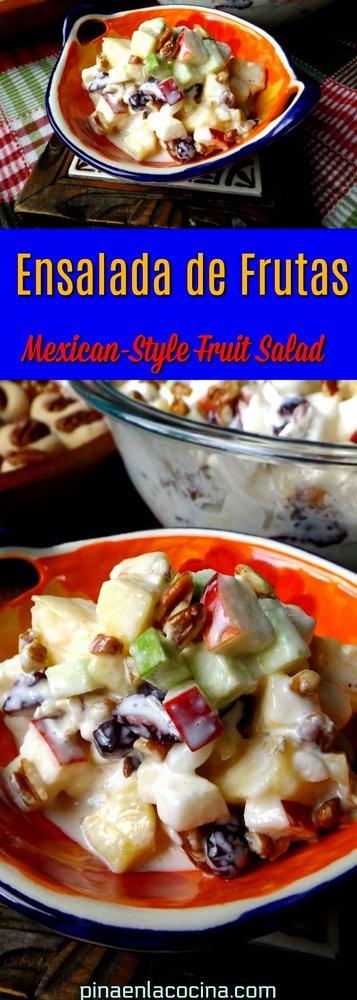 Ensalada de Frutas-Mexican Style Fruit Salad #ensaladadefrutas