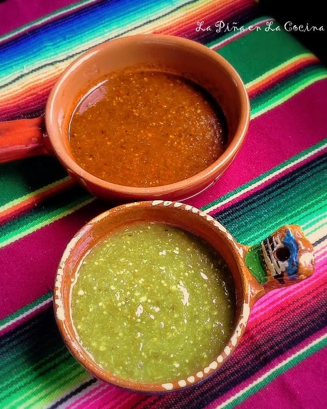 Red and Green Spicy Salsa #spicysalsa