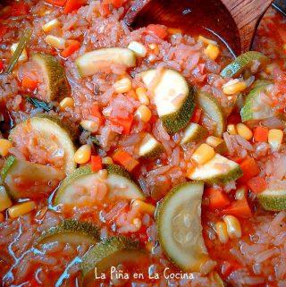Arroz Caldoso Con Calabacitas(Vegetables and Rice)