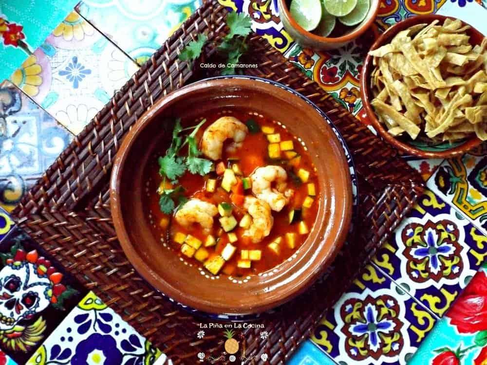 Caldo De Camarones Shrimp Soup La Pi 241 A En La Cocina