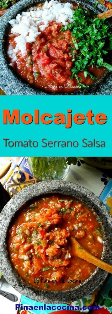 Molcajete Tomato Serrano Salsa #salsamolcajeteada #salsarecipes