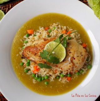 Oven Roasted Chicken Breast with Rice