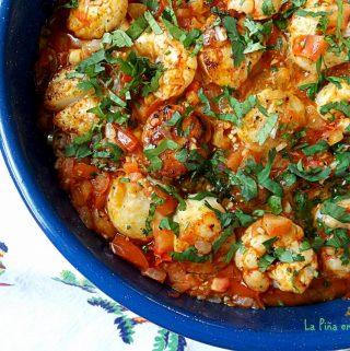Shrimp and Scallops a La Mexicana