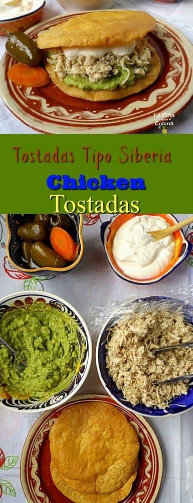 Chicken tostadas long image Pinterest