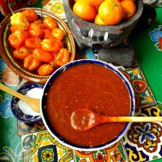 Roasted Tomatillo Habanero Salsa