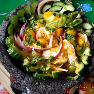 Shrimp Aguachile With Habanero and mango