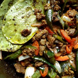 Steak Picado! One Skillet Beef Tacos!
