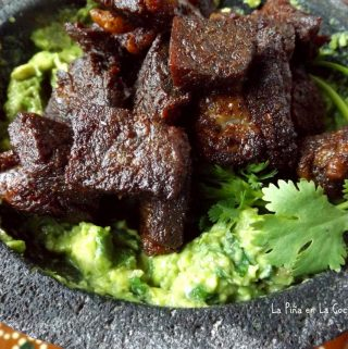 Chicharron de Ribeye-Ribeye and Guacamole Appetizer