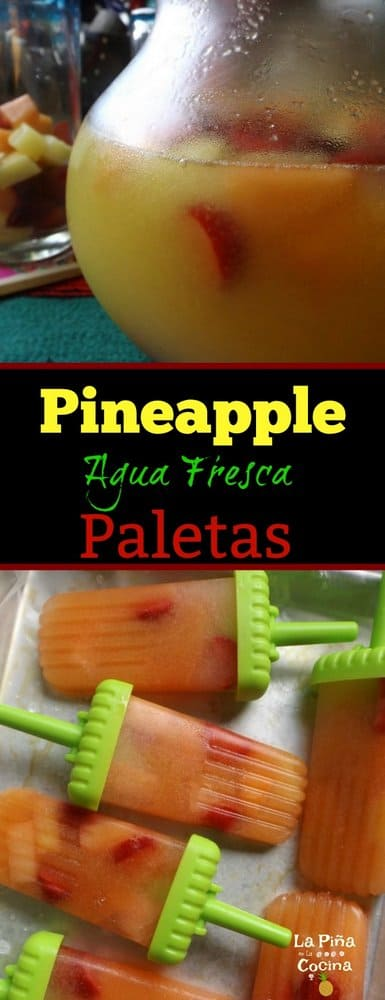 Pineapple Agua Fresca Images with Paletas For Pinterest